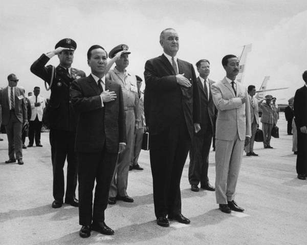 Van Johnson Photograph - Us-south Vietnam Summit Meeting. Nguyen by Everett