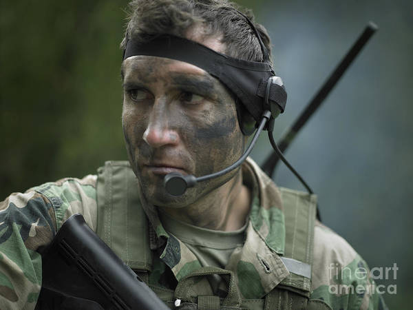 Photograph - U.s. Special Forces Soldier Equipped by Tom Weber