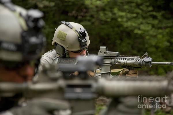 Photograph - U.s. Special Forces Soldiers Provide by Tom Weber
