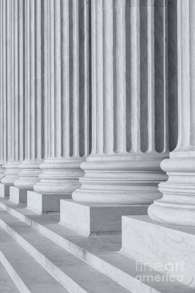 Photograph - Us Supreme Court Building IIi by Clarence Holmes