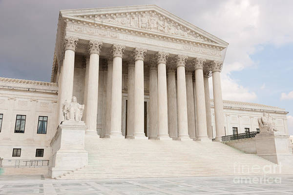 Photograph - Us Supreme Court Building Vi by Clarence Holmes