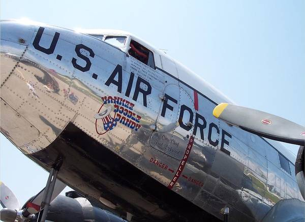 Wall Art - Photograph - Usaf Douglas Dc-3 Transport Aircraft by Thomas Woolworth