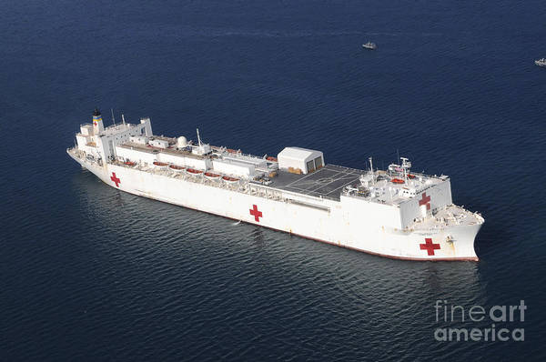 Photograph - Usns Comfort Is Anchored by Stocktrek Images