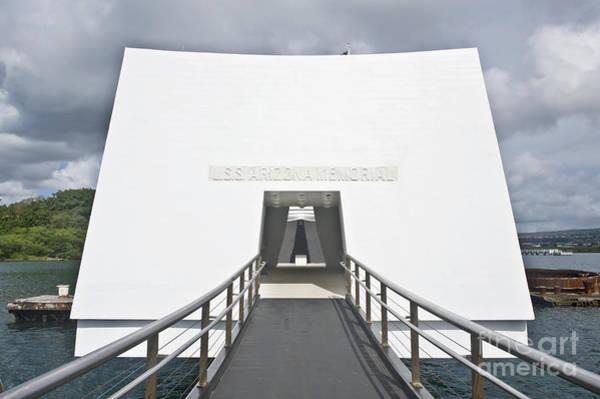 Uss Bowfin Photograph - Uss Arizona Memorial by Rob Tilley