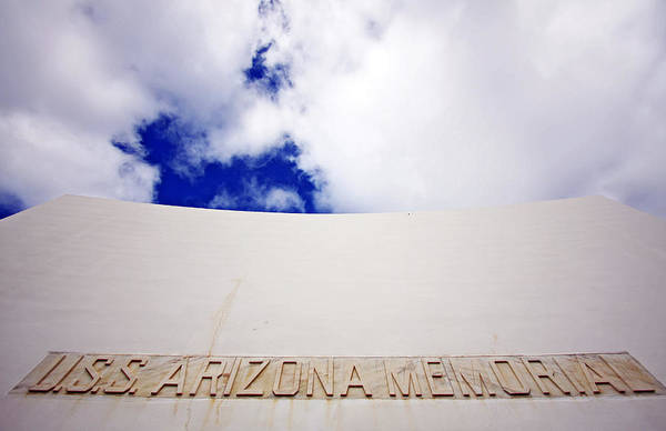 Uss Arizona Wall Art - Photograph - Uss Arizona Memorial Sky by Ty Helbach