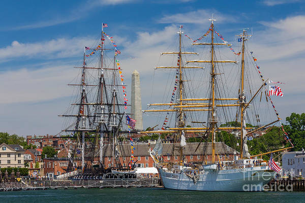 Photograph - Uss Constitution And The Eagle In Charlestown by Susan Cole Kelly
