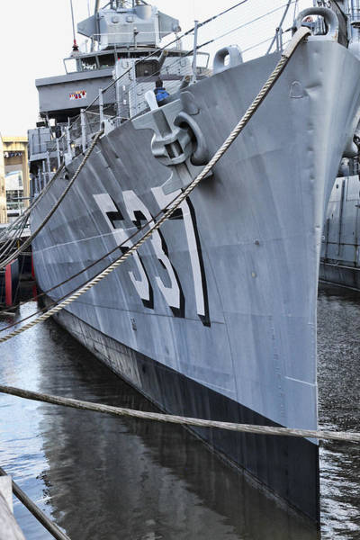 Anchor Photograph - Uss The Sullivans by Peter Chilelli