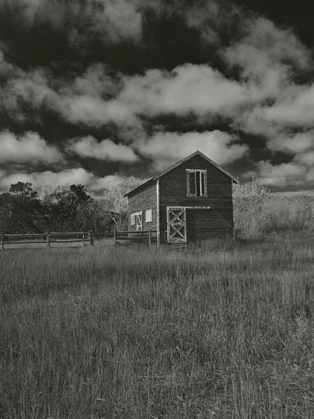 Photograph - Utah Barn In Black And White by Joshua House