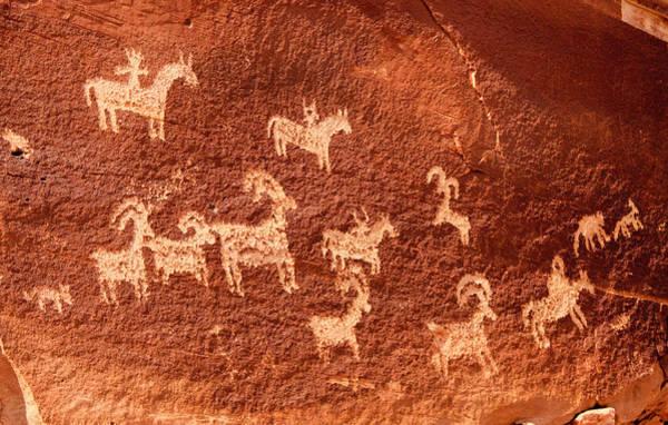 Photograph - Ute Petroglyphs by Adam Pender