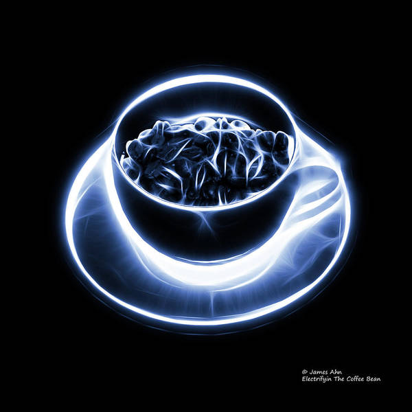 Digital Art - V2 - Bb - Electrifyin The Coffee Bean - Blue by James Ahn