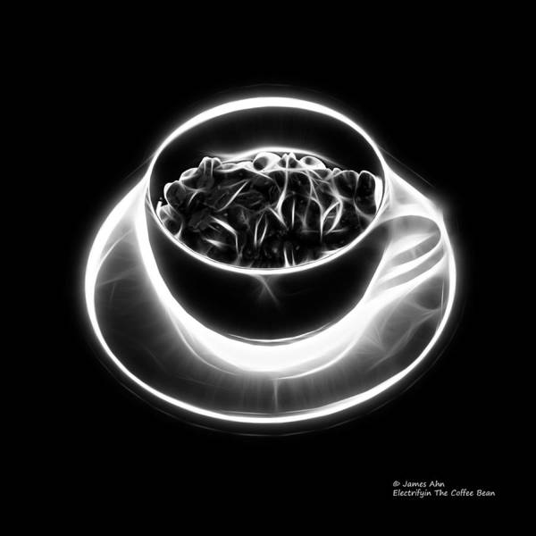 Digital Art - V2-bb-electrifyin The Coffee Bean-greyscale by James Ahn