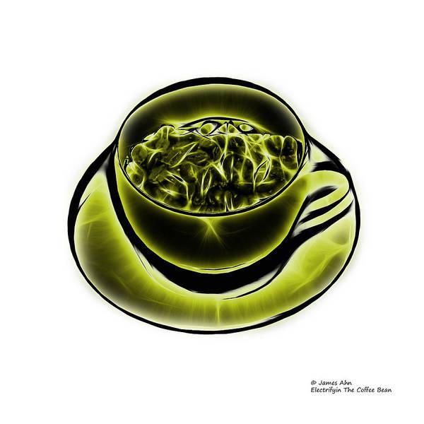 Digital Art - V3-wb-electrifyin The Coffee Bean-yellow by James Ahn