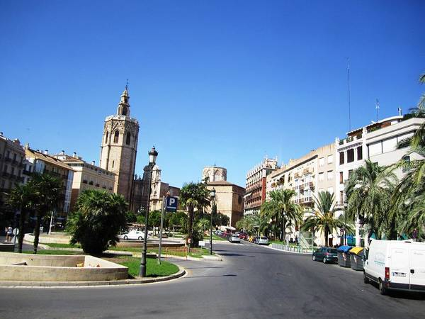 Photograph - Valencia City Square Spain by John Shiron