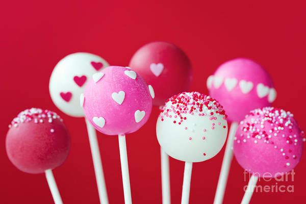 Wall Art - Photograph - Valentine Cake Pops by Ruth Black