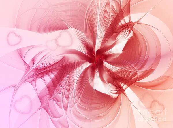 Digital Art - Valentine Flower by Jutta Maria Pusl