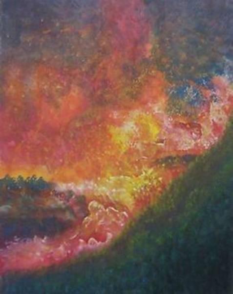 Volcanoe Painting - Valflow by Jeffrey Bunce