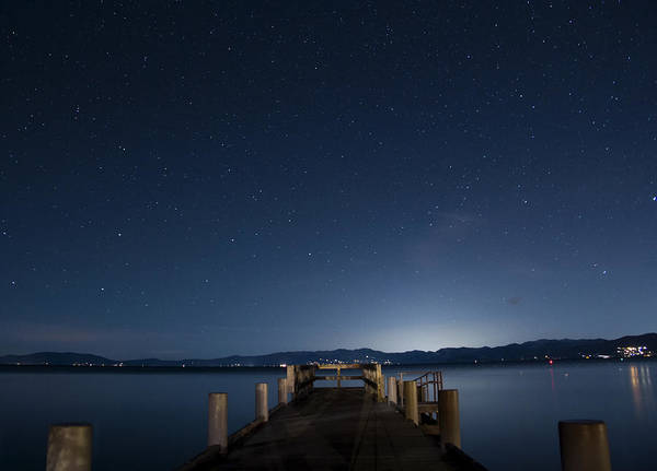 South Lake Tahoe Photograph - Valhalla Pier Star Gazing by Brad Scott
