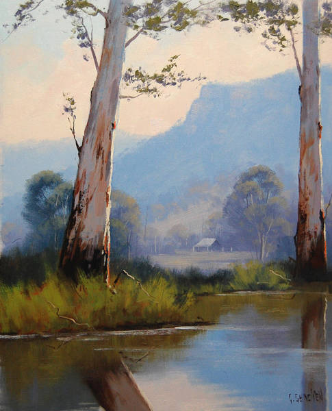 Old Tree Painting - Valley Gums by Graham Gercken