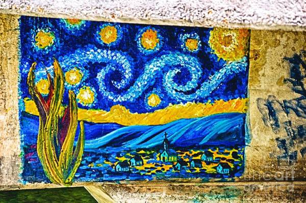 Photograph - Van Gogh Graffiti Hdr by Ken Williams