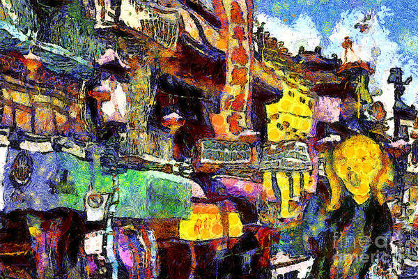 Photograph - Van Gogh Meets Up With The Screamer In San Francisco Chinatown . 7d7174 by Wingsdomain Art and Photography