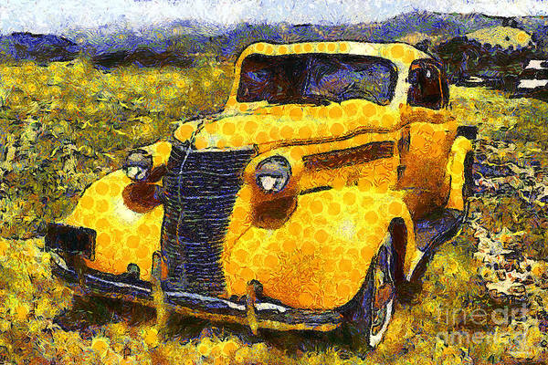 Photograph - Van Gogh.s Old Ride 7d15315 by Wingsdomain Art and Photography