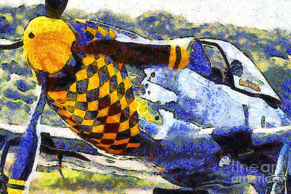 Photograph - Van Gogh.s P-51 Mustang Fighter Plane . 7d15598 by Wingsdomain Art and Photography