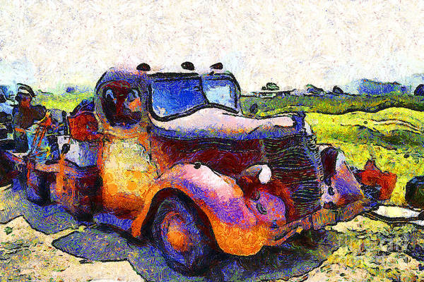 Photograph - Van Gogh.s Rusty Old Jalopy . 7d15500 by Wingsdomain Art and Photography