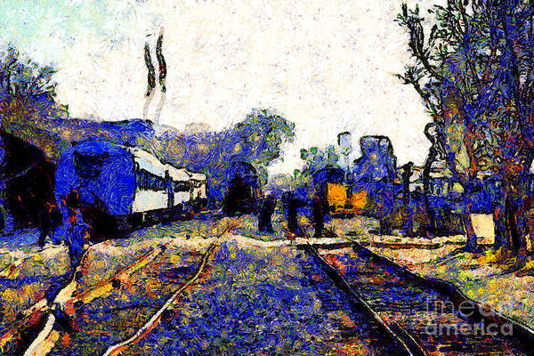 Photograph - Van Gogh.s Train Depot . 7d11636 by Wingsdomain Art and Photography