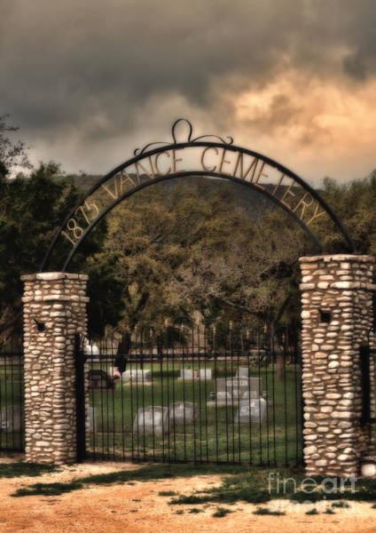 Photograph - Vance Cemetery by Donna Greene