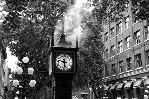 Photograph - Vancouver City Steam Clock In Gastown by Pierre Leclerc Photography