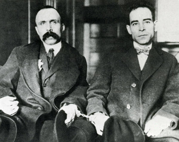 Italian Immigrants Wall Art - Photograph - Vanzetti And Sacco by Science Source