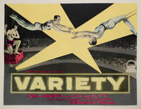 Trapeze Photograph - Variete Aka Variety, Aka Jealousy, Lya by Everett