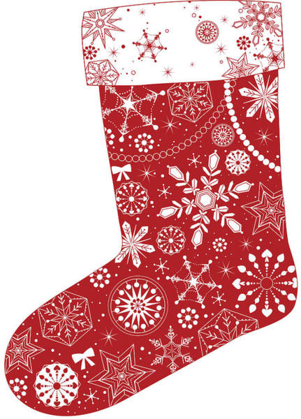 Holiday Digital Art - Various Plants Patterns In Sock by Eastnine Inc.