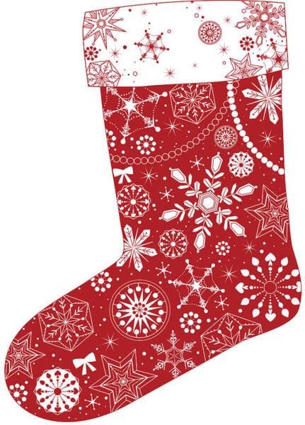 Christmas Digital Art - Various Plants Patterns In Sock by Eastnine Inc.