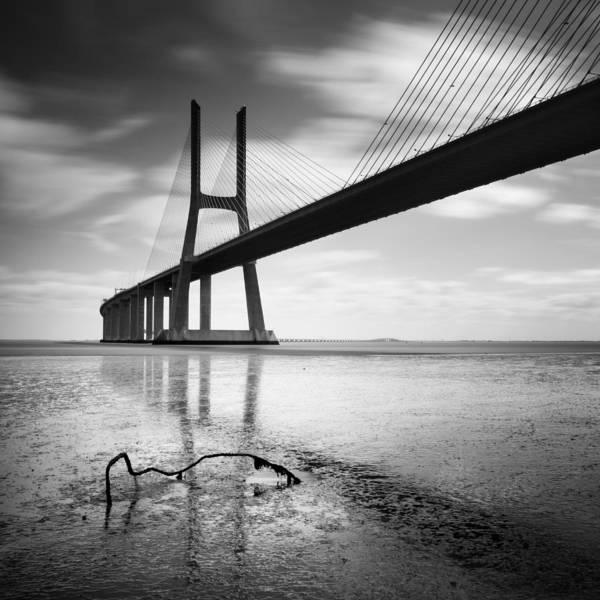 Vasco Da Gama Bridge Wall Art - Photograph - Vasco Da Gama Bridge I by Nina Papiorek