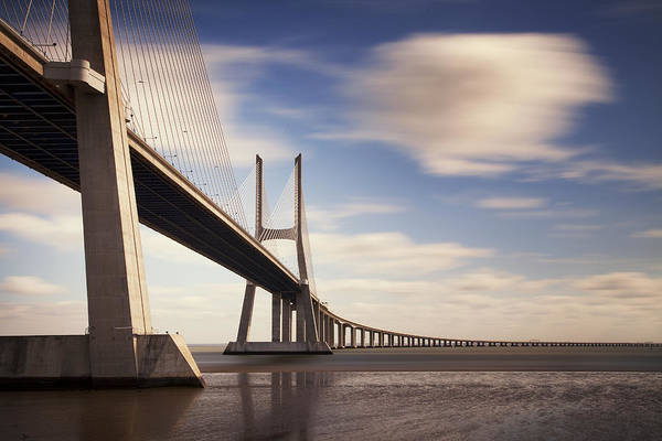 Wall Art - Photograph - Vasco Da Gama Bridge V by Nina Papiorek