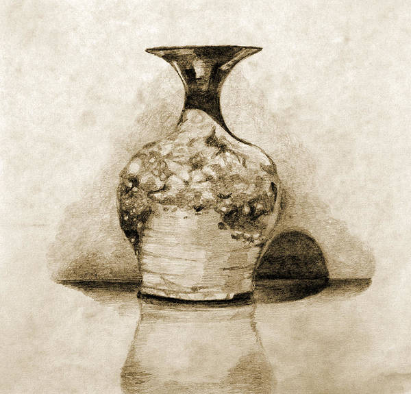 Coolidge Drawing - Vase by Sara Coolidge