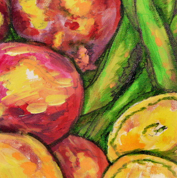 Wall Art - Painting - Vegetables Medley 2 Crop by Laura Heggestad