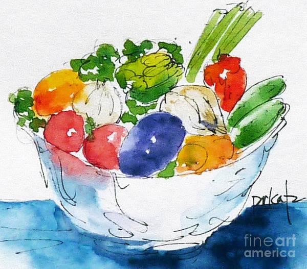 Painting - Veggie Bowl by Pat Katz