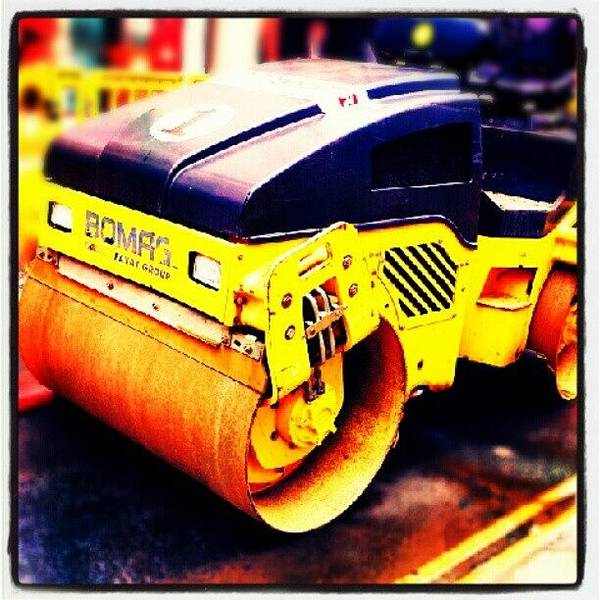 Vehicle Photograph - Vehicles - Tarmac Roller #road #vehicle by Invisible Man