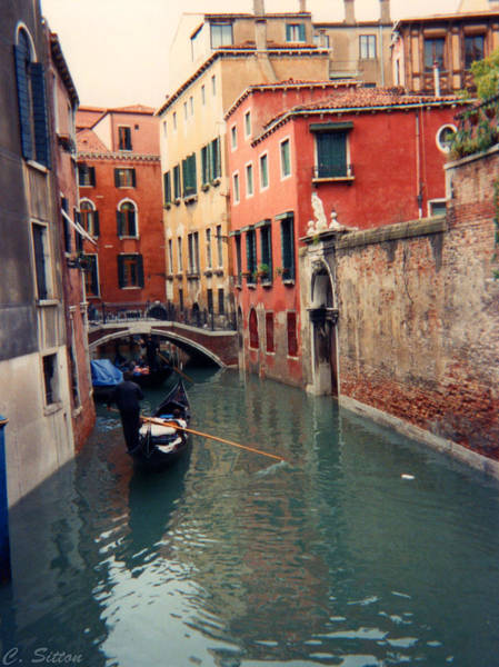 Photograph - Vence Canal With Gondola by C Sitton