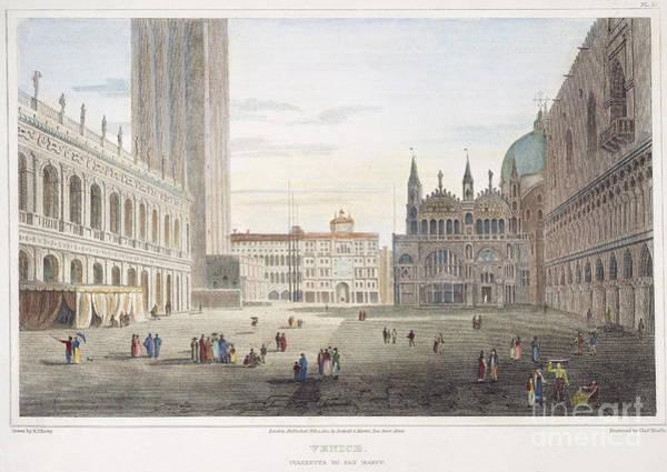 St Mark's Basilica Photograph - Venice, 1820 by Granger