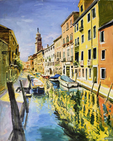 Wall Art - Painting - Venice Canal by Conor McGuire
