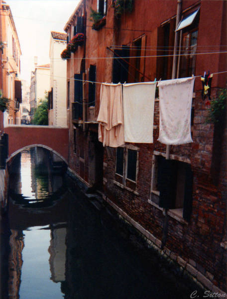 Photograph - Venice Canal Scene by C Sitton