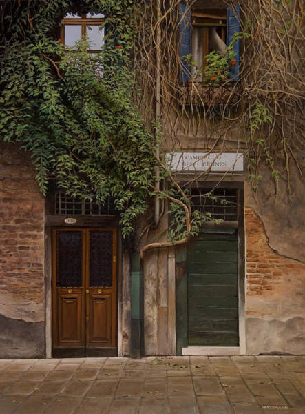 Painting - Venice Doorways And Windows by Cliff Wassmann