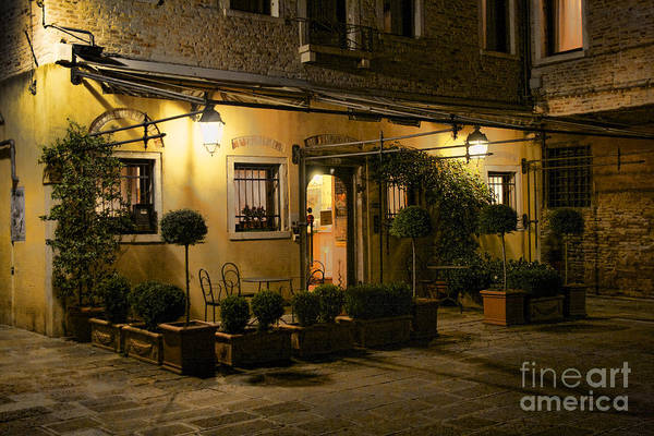 Photograph - Venice Hotel Glow by Crystal Nederman