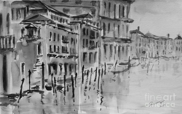 Painting - Venice Impression Vii by Xueling Zou