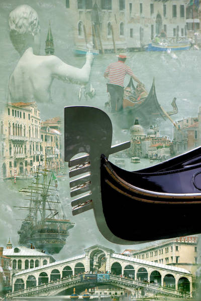 Photograph - Venice Montage by Andrew Fare