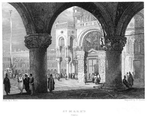 St Mark's Basilica Photograph - Venice: St. Marks by Granger