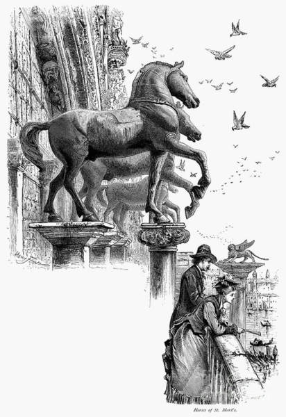 St Mark's Basilica Photograph - Venice: St. Marks Horses by Granger